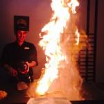 エジプトで鉄板焼き。高級コース&パフォーマンスよりお好み焼きとか食べたい。